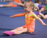 Little child gymnast
