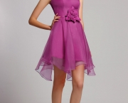 Concise-A-Line-Sweetheart-Mini-Length-Chiffon-Bridesmaid-Dress-with-Floral-BGD0070-06